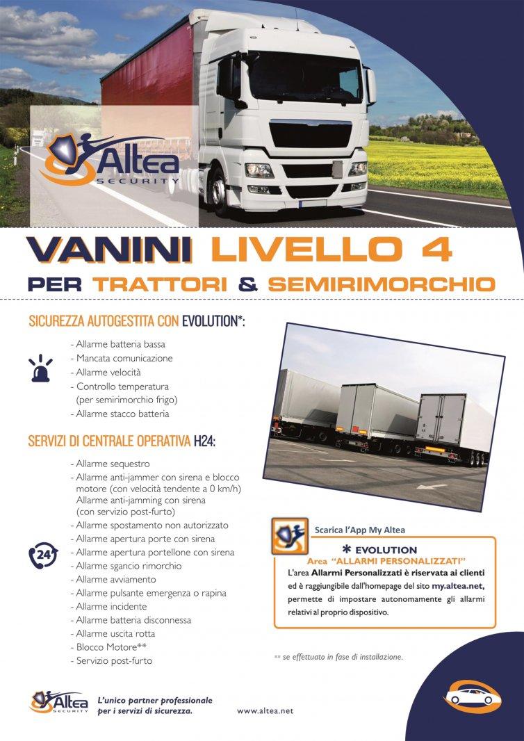 Vanini livello 4 per trattori e semirimorchi