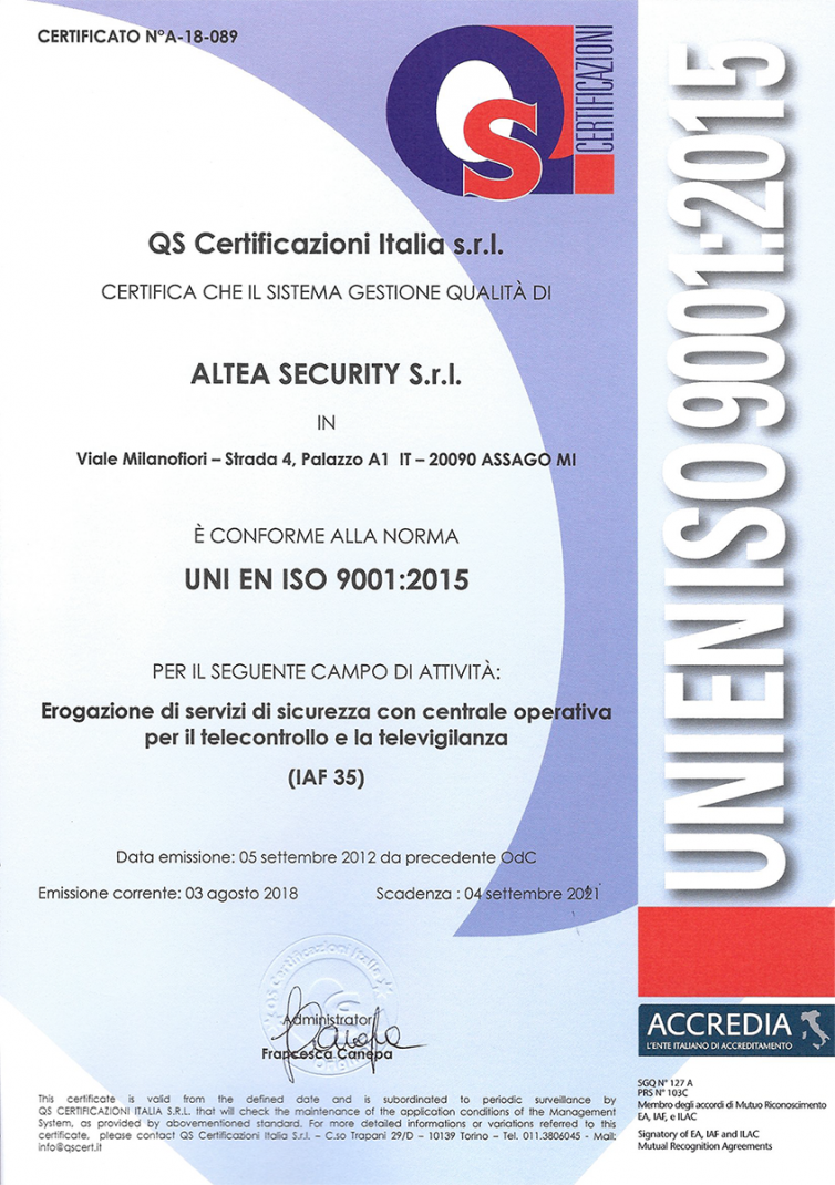CERTIFICATO-QS-ALTEA-SECURITY-9001